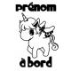 """Sticker """"bébé/enfant à bord"""" - Licorne"""