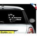 """Sticker """"bébé/enfant à bord"""" - Princesse chat"""