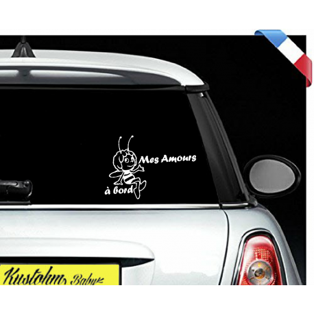 "Sticker ""bébé/enfant à bord"" - Maya"