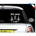 """Sticker """"bébé/enfant à bord"""" - Petit sayian"""
